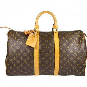 Louis Vuitton Keepall cloth 48h bag - BROWN - STYLE