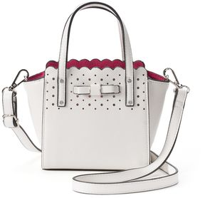 Candie's® Bryant Bow Triple-Entry Mini Satchel