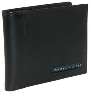 Tommy Hilfiger Men's Leather Cambridge Billfold Passcase Wallet, Black