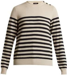 A.P.C. Petra striped wool sweater