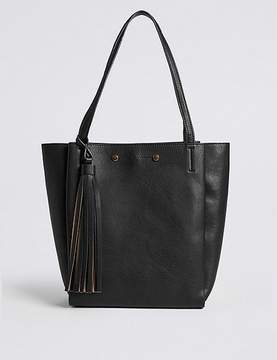 Marks and Spencer 3 Compartment Tassel Tote Bag