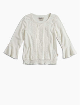 Lucky Brand BELL SLEEVE PEASANT TOP W