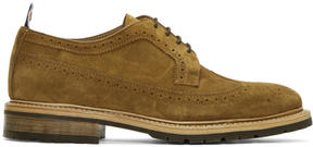 Thom Browne Brown Suede Classic Longwing Brogues