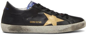 Golden Goose Deluxe Brand Black and Multicolor Superstar Sneakers