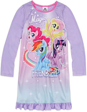 My Little Pony Long Sleeve Nightgown-Big Kid Girls