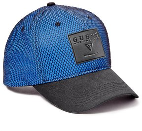 GUESS Men's Denim and Mesh Baseball Cap