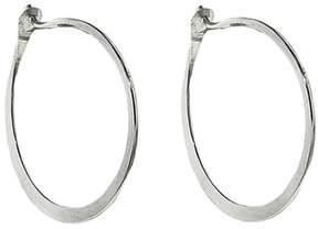Melissa Joy Manning Medium Forged Round Hoop Earrings - Sterling Silver