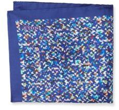 Eton Printed Raw-Silk Pocket Square