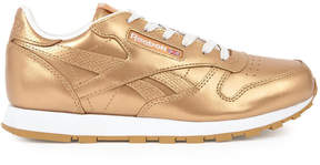 Reebok Metallic leather sneakers