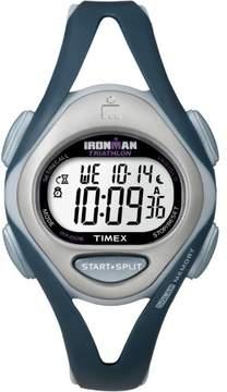 Timex Women's Ironman Sleek 50 Mid-Size Watch, Blue Resin Strap