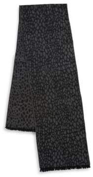 Black & Brown Black Brown Cobblestone Print Scarf