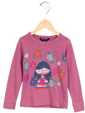 Little Marc Jacobs Girls' Floral Print Long Sleeve Top