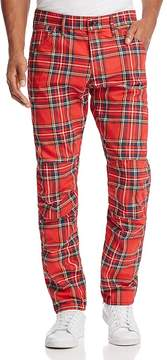 G Star Elwood 3D Slim Fit Jeans in Red Plaid