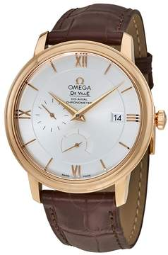 Omega De Ville Prestige Silver Dial 18K Rose Gold Automatic Men's Watch