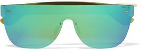 RetroSuperFuture Tuttolente Square-frame Acetate Mirrored Sunglasses - Blue