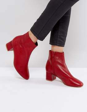 Office Aphid Leather Ankle Boots