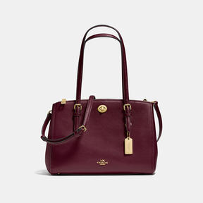 COACH Coach Turnlock Carryall 29 - LIGHT GOLD/OXBLOOD - STYLE