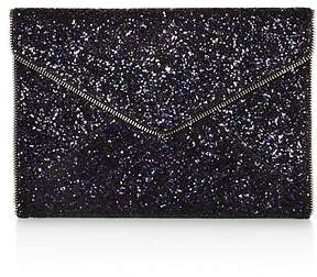 Rebecca Minkoff Leo Glitter Leather Clutch - PURPLE MULTI/SILVER - STYLE