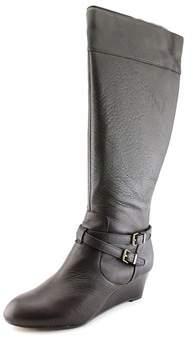 Giani Bernini Kalie Wide Calf Women Round Toe Leather Knee High Boot.