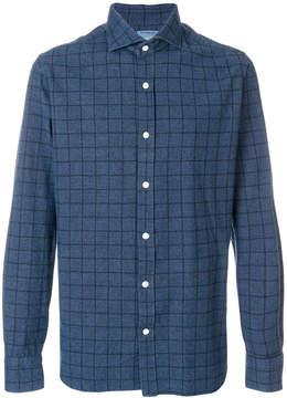 Barba grid pattern shirt