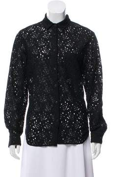 Creatures of Comfort Lace Long Sleeve Top