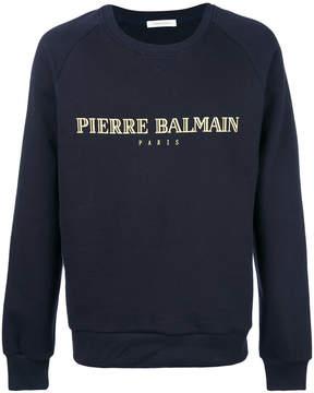 Pierre Balmain logo patch sweatshirt