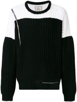 Miharayasuhiro color blocked sweater