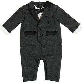 Roberto Cavalli Cotton Interlock Romper W/ Bow Tie