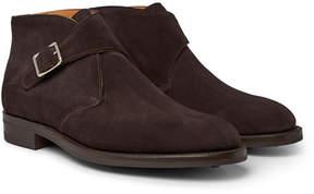 Edward Green Ravenstone Suede Monk-Strap Boots