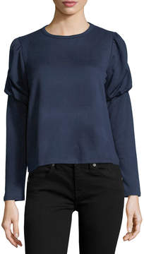 Collective Concepts Balloon-Sleeve Cropped Sweatshirt