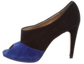Diane von Furstenberg Bicolor Peep-Toe Pumps