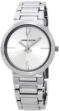 Anne Klein Silver Dial Ladies Silver-tone Watch