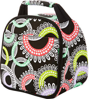 Fit & Fresh Black & Neon Floral Ring Gabby Insulated Lunch Bag