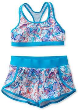 L.L. Bean L.L.Bean Girls' BeanSport Short Set Swimsuit, Print