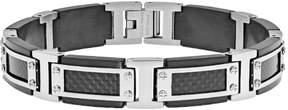 Lynx Stainless Steel Two Tone & Carbon Fiber Bracelet - Men