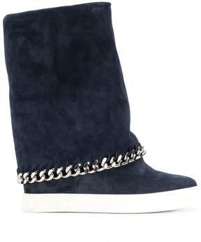Casadei chain trim boots