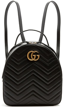 Gucci GG Marmont quilted-leather backpack - BLACK - STYLE