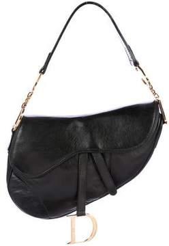 Christian Dior Leather Saddle Bag