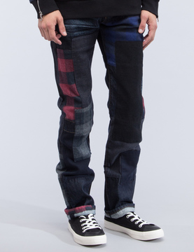 Mostly Heard Rarely Seen Patchwork Denim Jeans