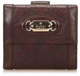Gucci Pre-owned: Leather Small Wallet. - BROWN X DARK BROWN - STYLE