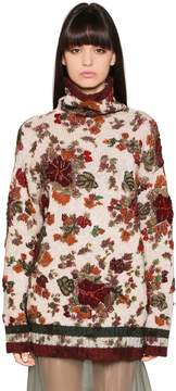 Antonio Marras Flowers Intarsia Wool Knit Turtleneck