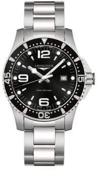 Longines HydroConquest Quartz Stainless Steel Bracelet Watch