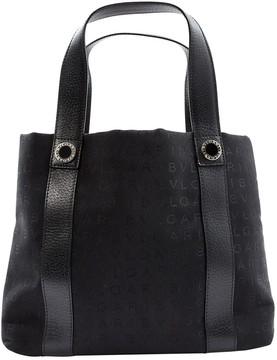 Bulgari Black Cloth Handbag