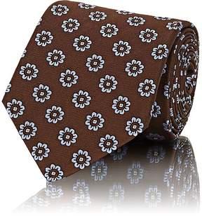 Isaia Men's Floral-Print Silk Necktie