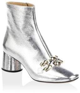 Marc Jacobs Remi Chain Link Leather Booties
