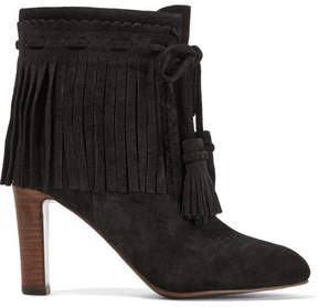 See by Chloe Fringed Suede Ankle Boots - Black