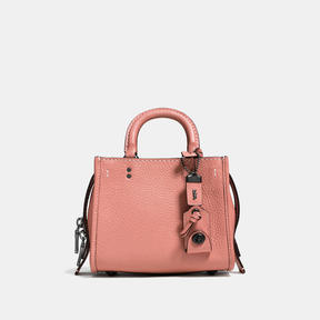 COACH Coach Rogue 17 In Natural Pebble Leather - BLACK COPPER/MELON - STYLE
