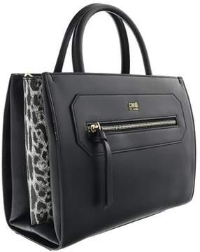 Roberto Cavalli Small Handbag Leopride 002 Black Satchel Bag.