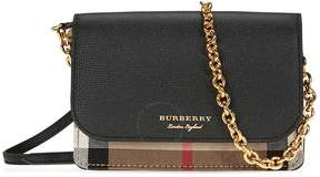 Burberry Leather and House Check Wallet - Black
