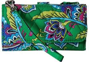 Vera Bradley Smartphone Wristlet Wristlet Handbags - EMERALD PAISLEY - STYLE